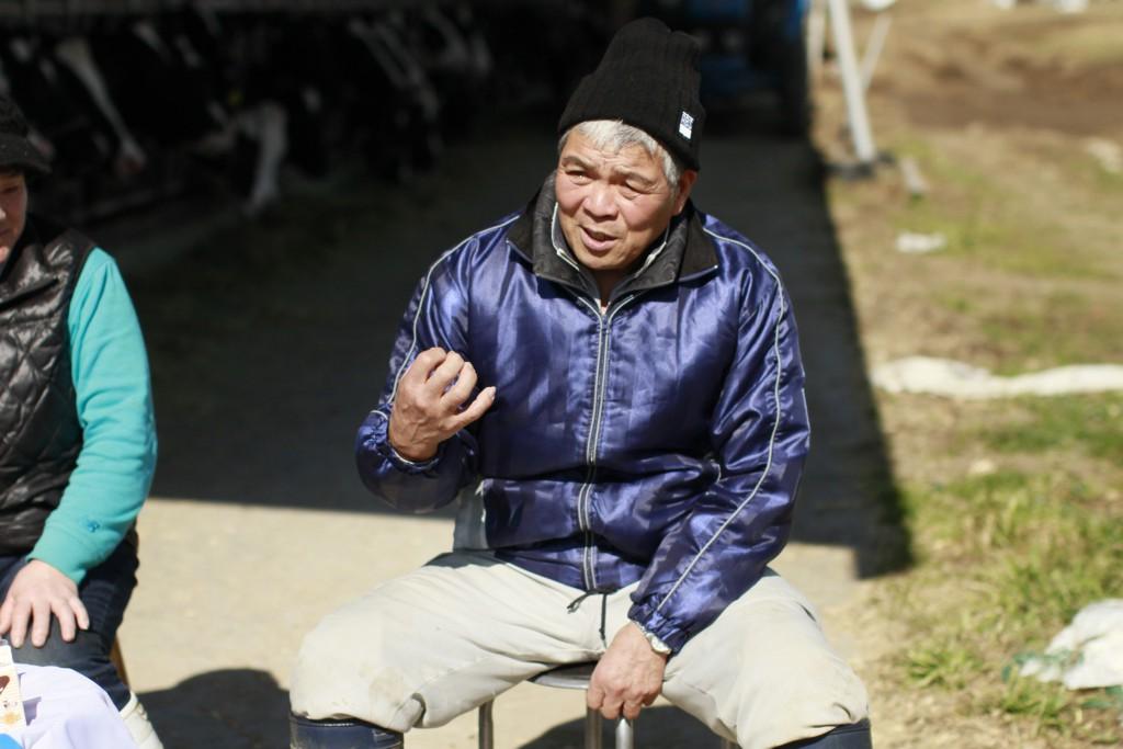 木目澤牧場の次男さん