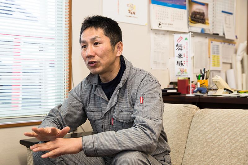 山形ピッグファームの社長・阿部秀顕さん