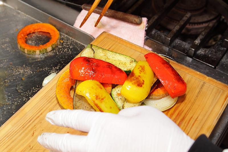 焼いた夏野菜
