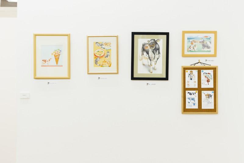 展示された佐藤真理子さんの作品