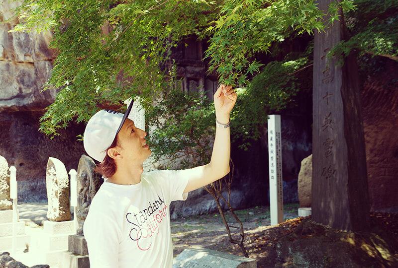瑞巌寺にいる川村さん