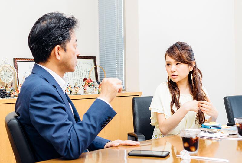 友加里さんと松本米穀精麦株式会社の松本さん