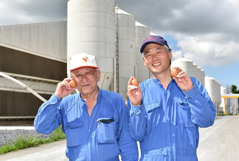 倉持産業農場長と農場長代理