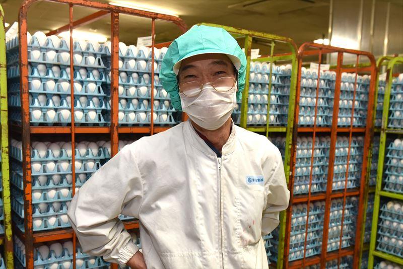 倉持産業の工場長の折笠敬三さん