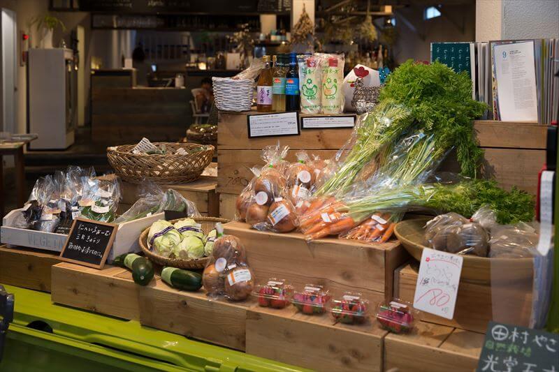 chus店内で販売中の野菜