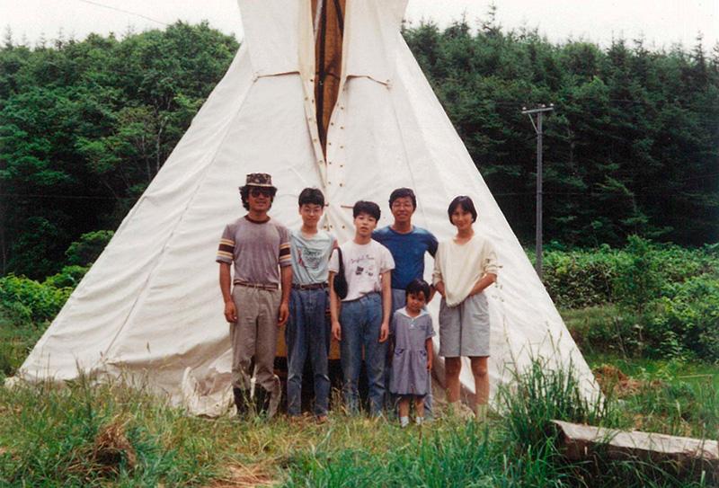 久世牧場の久世さん家族の昔の写真