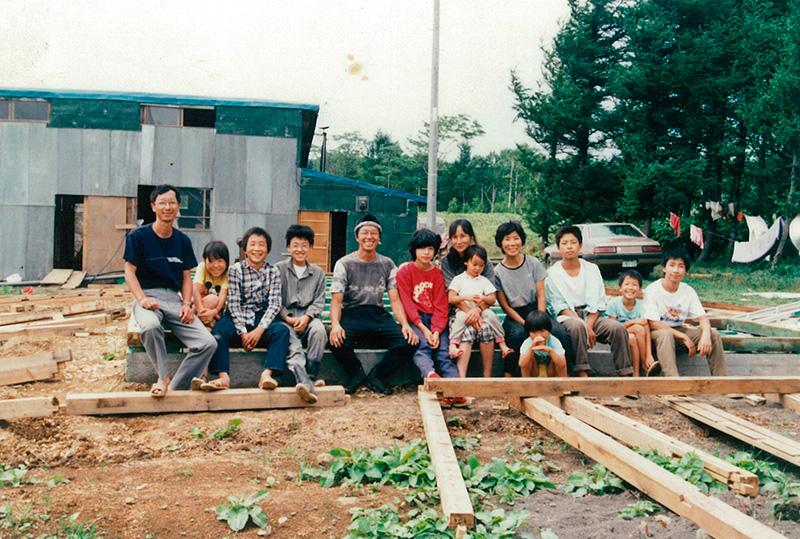 久世牧場の久世さん家族の写真