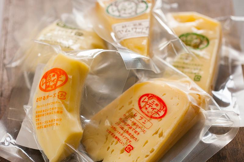 工房レティエで作ったチーズ