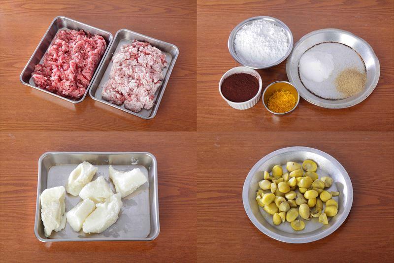 ブーダンブランショコラ風味の材料