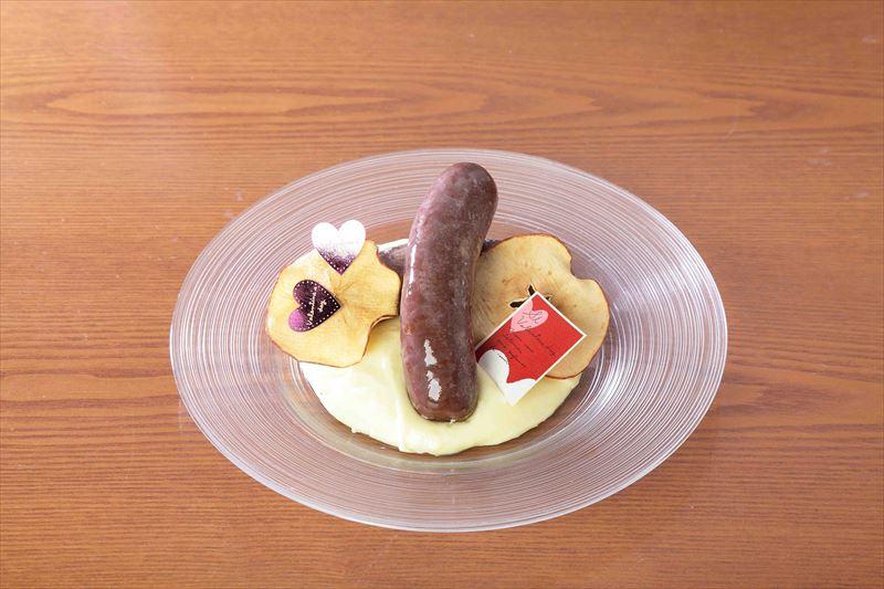 完成したショコラ風味のブータンブラン