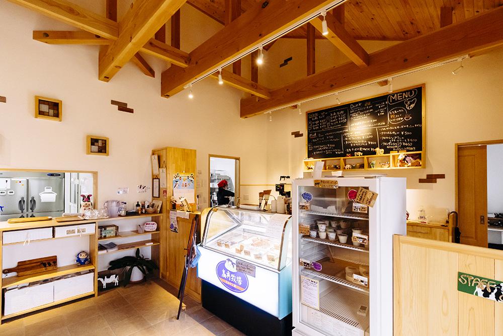ミルク工房に併設されてるカフェ