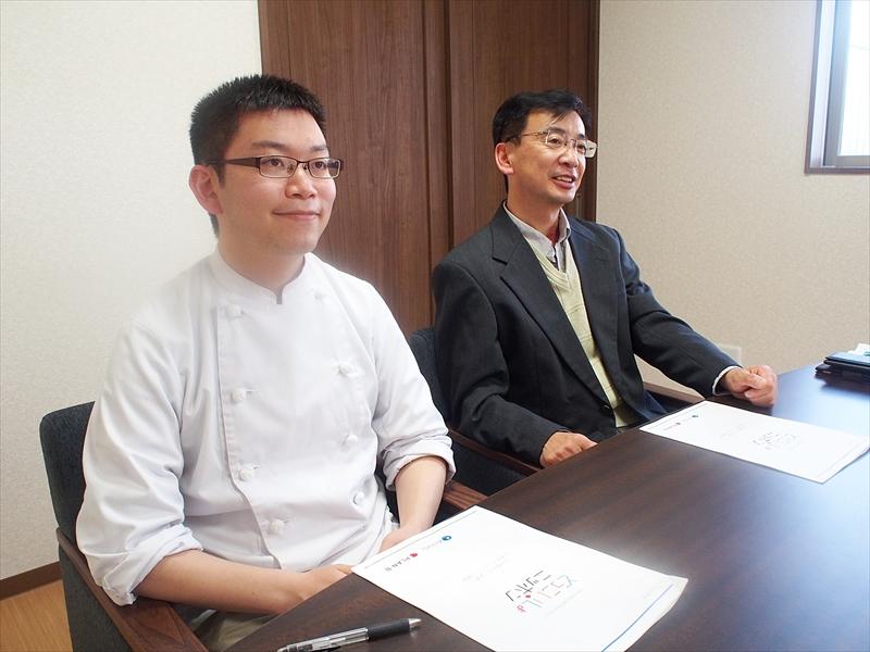 、有限会社オオガキの大柿純一さんと息子の陽介さん