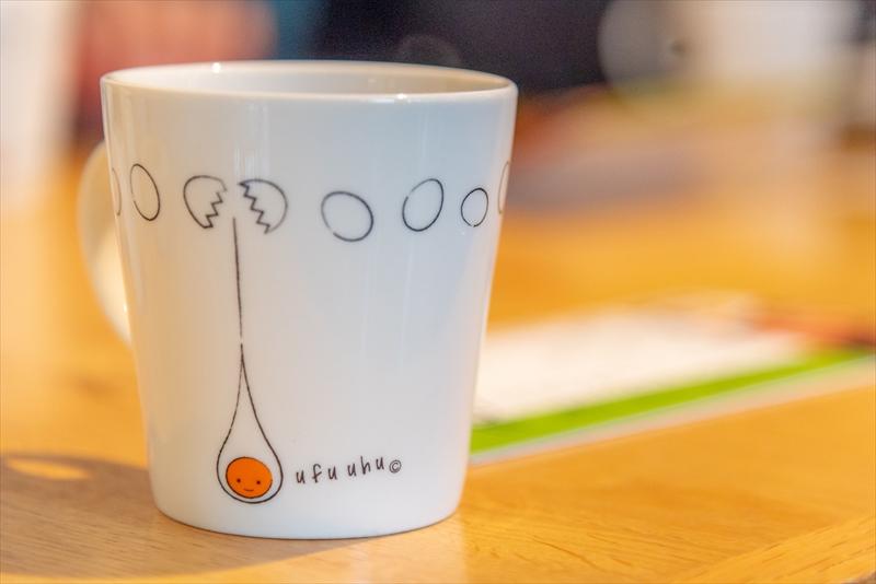 たまごのデザインがかわいいマグカップ