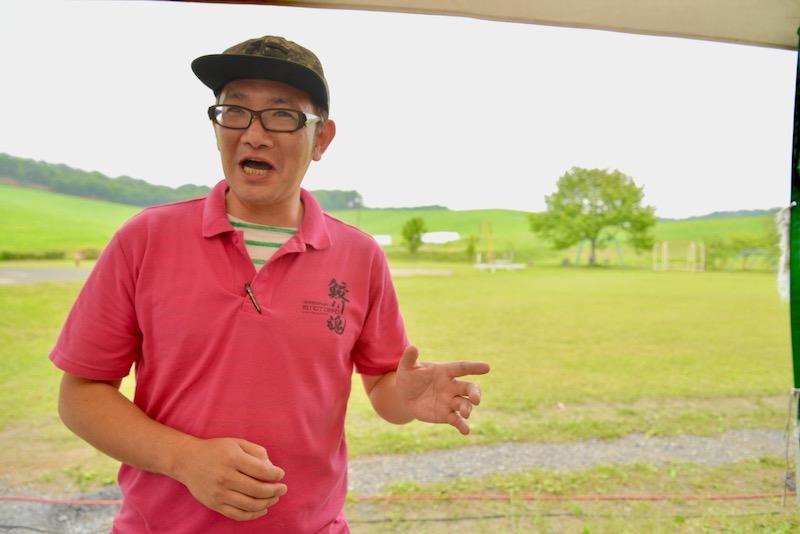 鮫川村商工会青年部の部長を務める鈴木隆さん